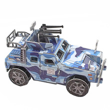3D Puzzle DIY Model Kids Toy Military Style Armored Car Puzzle Car Model puzzle 3d building puzzles Gift For Children