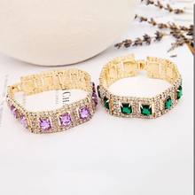 2015 fashion jewelry manufacturers selling shiny combination Rhine stone crystal bracelet B021(China)