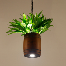 American country plant walnut creative personality restaurant balcony designer wood pendant lights LO72513(China)