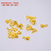 50PCS Free mailing accessories 18K standard accessories female jewelry pendant earrings interface(China)