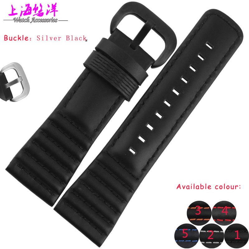 New Arrival Watchband Mens the leather Strap Watches Original S-e-v-e-n-F-r-i-d-a-y 28mm Watch Strap Black 5 colours<br>