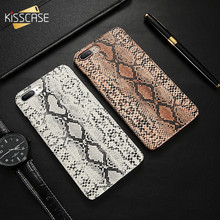 KISSCASE Leather Case For iPhone 7 8 Plus Retro Snake Crocodile Slim Hard Back Cover For iPhone 6 6S Plus 5 SE Cover Shell Bag(China)