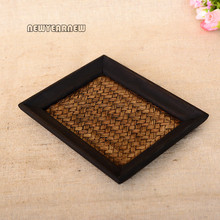 NEWYEARNEW Creative Delicate Bamboo Article Retro Storage Tray Thai Style DIY Wooden Fruit Tea Trayt Home Decoration