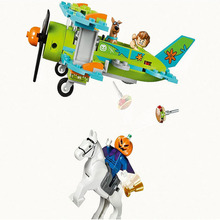 BELA 10429 Scooby Doo Figures Mystery Plane Adventures Machine Building Blocks Bricks Toy Compatible With Legoe 75901 Toys