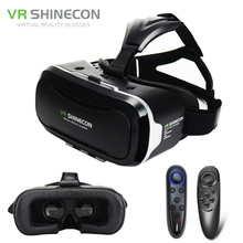 Shinecon VR 2.0 Google Cardboard 3D Virtual Reality Glasses Headset Immersive Helmet vr box Head Mount For 4.7-6' Phone + Remote