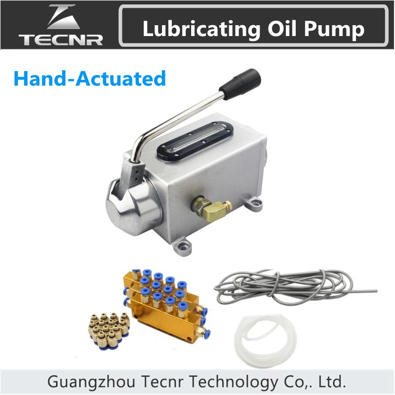 One set lubricating oil pump hand-actuated cnc router electromagnetic lubrication pump lubricator stainless steel body<br>