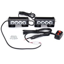 Safurance Emergency Strobe Light Bar 8 LED Dash Flash Warning Lamp Traffic Light Roadway Safety(China)