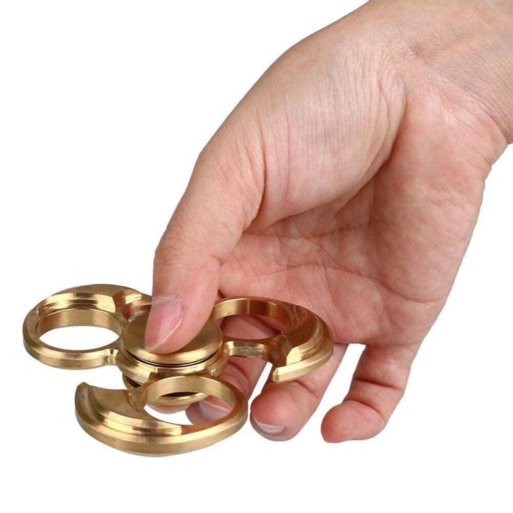 Fidget Spinner EDC HandSpinner Toy Metallic Copper Custom Fidget Toys Golden Spinner Hand<br><br>Aliexpress