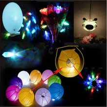 HOT 10pcs/lot LED Ballon Light White/colorful Balloon Lamp for Paper Lantern Balloon Wedding Party Decoration-B