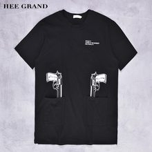 HEE GRAND 2017 New Design Men Basical T- Shirts Main Cotton Material Solid Pattern Printed Casual Top Tees Size S-5XL MTS2621