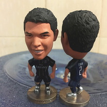 Soccerwe 6.5 cm Height Resin Football Doll PSG 2017 Season 2 Thiago Silva Figure Collections(China)