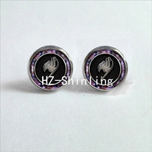 NES-006  Fairy Tail Ear Nail Fairy Tail Guild Marks Studs Earrings Anime Fairy Tail Jewelry Glass Cabochon Earrings Post