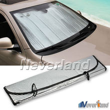 Universal Reflective Car Aluminum foil Windscreen Sunshade Front Window Sun Shade Windshield Visor Cover UV Protect D10(China)