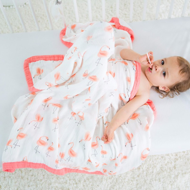 Muslin Baby Blankets Bedding 70% Bamboo 30% Cotton Gauze 4 Layers Blankets For Newborn Supplies Baby Swaddle Child Dream Blanket<br>