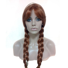WOODFESTIVAL princess brown ponytail wig long anime wigs double ponytail wig hair heat resistant synthetic wigs blonde