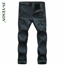 New Brand Camping Hing Pants Men Autumn Winter Windproof Thermal Thick Outdoor Sports Hunting Trekking Pants Softshell Trousers(China)