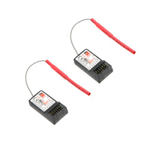 2 Pcs Original FS-R6B 2.4Ghz 6CH Receiver for FlySky TH9X FS-CT6B FS-T6 Transmitter