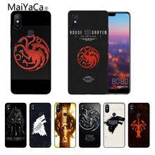 Game Thrones DIY Printing Drawing Phone Case cover Shell Xiaomi Note2 Note3 MI6 MI8 Redmi5 Redmi 5plus Max2 Max3