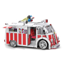 Xingbao 08004 1000Pcs Genuine Technic Series The Ice Cream Car Set Building Blocks Bricks Children Educational Toys Model Gifts