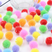 100PCS 20MM Christmas hat decoration Children's educational toys Manual materials wholesale Pure color glitter powder wool ball