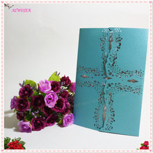 Wedding Party Invitation Card Delicate Carved Hollow Cross Pattern Laser Cut Blank Inner Page Invitations Party Supplies 8ZSH212