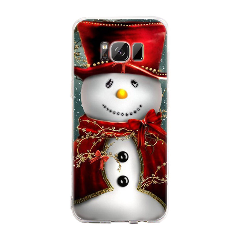 GerTong Case For Samsung Galaxy J3 J5 J7 2016 Note 8 S8 Plus S7 Edge Phone Case Christmas Snowman Santa Back Cover New Year Gift