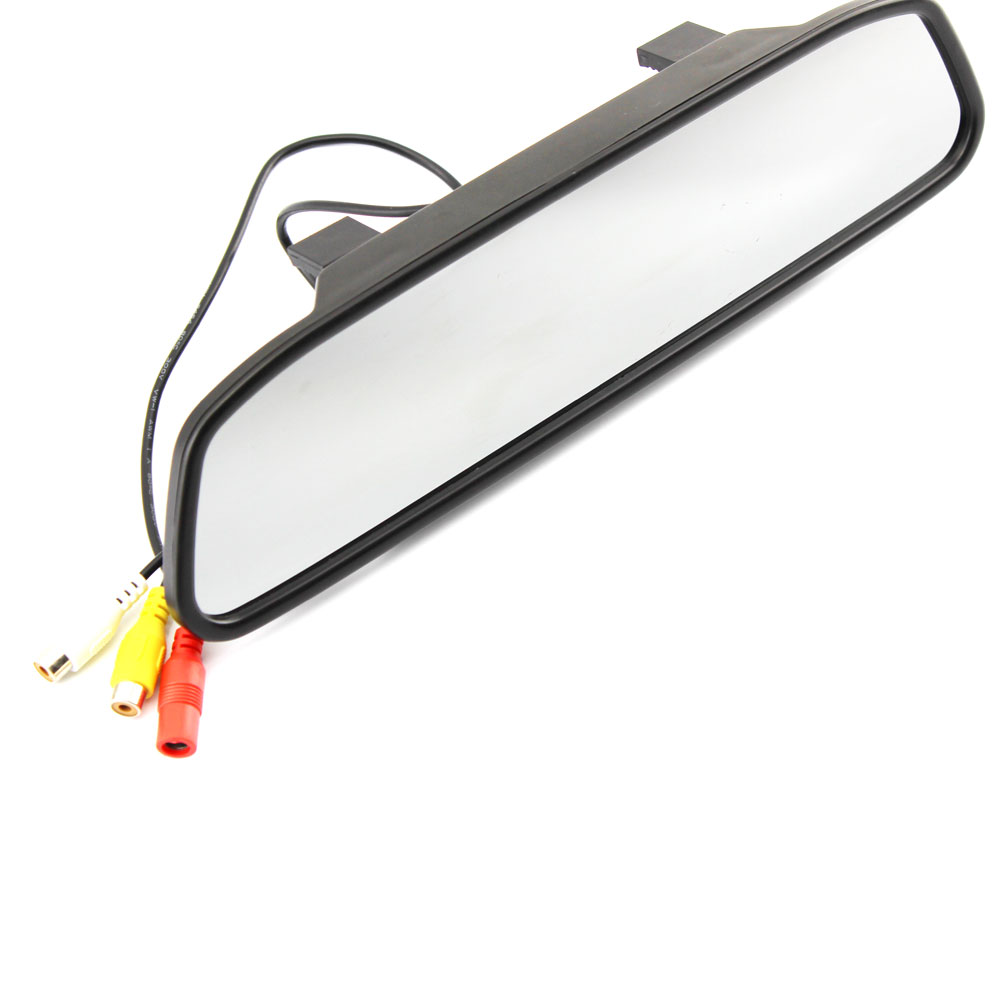 Hot Sell 5 Inch 800*480 Car Hd Display Rear View Mirror Monitor 2ch Video Input Parking Assistance ,free Shipping(China)