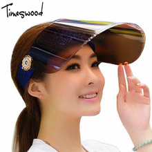 Summer Holiday Neon Sun Visors Sunvisor Party Hat Clear Plastic Cap Motor Peak Caps Anti-UV Sun Protection Bicycle Hats(China)