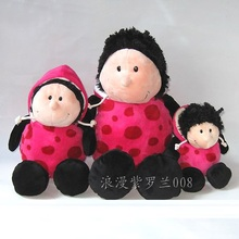 NICI plush toy stuffed doll cute Hoodie pink spot Ladybug Ladybird 1pc bedtime story lover Christmas birthday gift free shipping(China)