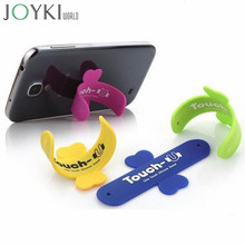 Mini Touch U One Touch Silicone Stand Finger Rings Universal Portable Phone Holder pop For iPhone 6 5s 7 Samsung Tablet PC(China)