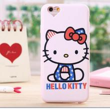 Hello Kitty Case for iPhone 5 5S SE 6 6S plus Cute Lovely Cat Animal Cover Soft Silicon TPU Rubber Capa Heart Camera Dust Plug