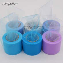 22m*5cm Crystal Tulle Roll Organza DIY Spool Tutu Table Runner Baby Shower Favors Wedding Party Decoration Crafts Supplies(China)