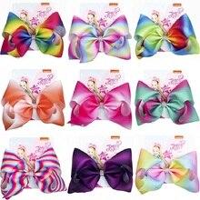 JoJo Bows Large Hair Accessories for Girl Colorful Ribbon JOJO SIWA Bows Hair Bow Knot Jumbo Kids Fashion Hair Clip Dropshipping(China)