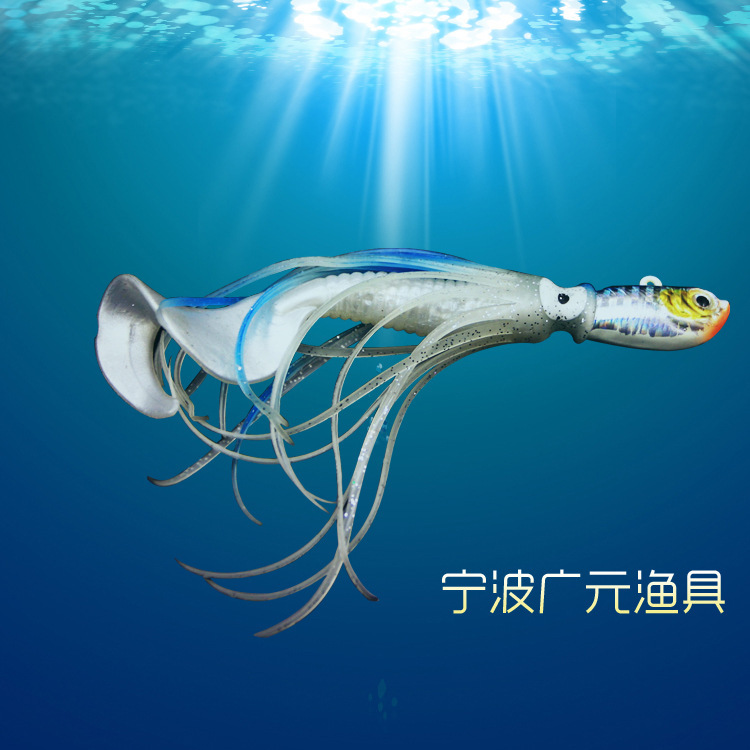 Fishing lures Weight:50g Squid type Artificial Bait Fishing tackle Noctilucent Lead head Hook Fresh/Salt Water  Fishing Tool<br><br>Aliexpress