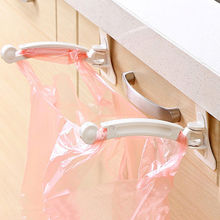 2pcs Kitchen Cabinet bags hooks Trash Garbage Bag Hanger Cupboard Door Hanging Rack holder for storage bag kitchen accessories