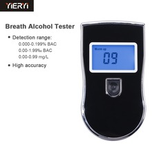 yieryi New AT819 Police Black Digital Alcohol Breath Analyzer Detector Breathalyzer Tester Test Car-detector Alcoholmeter(China)