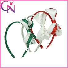 Hot Sale 9 pieces/lot Christmas Hair Band With Ribbon Bow for girls  Kids Christmas Hair Accessories Christmas headband