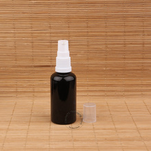 20pcs/Lot Wholesale Glass 50ml Lotion Pump Bottle with Water  White Lid Black Container Makeup Tools Pot 50g  Packaging
