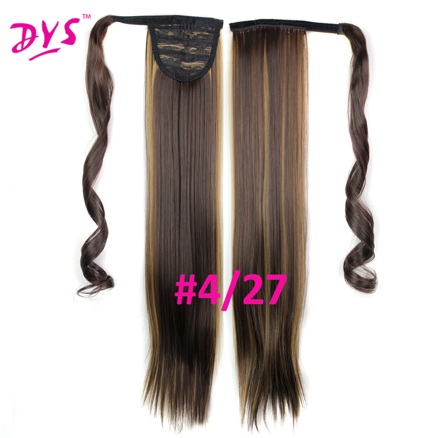 Deyngs 60cm Long Straight Clip In Hair Tail False Hair Ponytail Hairpiece With Hairpins Synthetic Hair Pony Tail Hair Extensions (11)