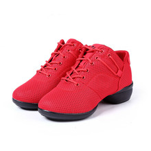 KERZER New Dance Practice Shoes for Women Girls Breathable Jazz Dancing Shoes Black Red Dance Jazz Sneakers Cheap Ladies Shoes