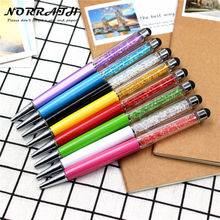 NORRATH Kawaii Cute Metal Diamond Crystal Ballpoint Pen Stationery Touch Pen School Supplies Office Accessories Oily Refill 0.7