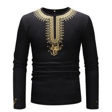 Black African Dashiki Print T Shirt Men 2018 Tribal Ethnic African Clothing Hip Hop Streetwear Tee Shirt Homme African Clothes(China)