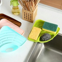 Useful High Quality Household Triangular Shelf In The Kitchen Sink Dish Sponge The Bathroom Soap Rack Free Shipping