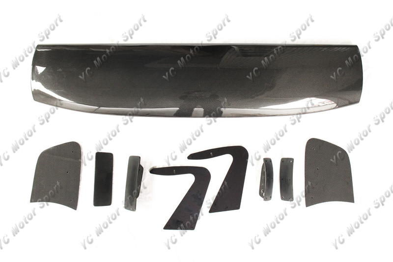 Universal Voltex Type 7 SWAN NECK Style 1600mm GT Wing Spoiler (Fits EVO7 8 9 GTR35 GT86 S2000 etc.) CF (2)