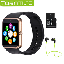 2017 Hot Torntisc GT08 Smart Watch phone support TF SIM card MP3 0.3MP camera Bluetooth Sync Notifier Clock for apple android OS