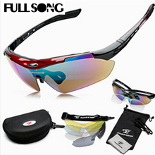 FULLSONG 1set 5 Lenses Men Eyewear Sunglass Set Glasses UV400 Sun Glasses Gafas de sol lunettes de soleil BLACK