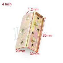 4 Inch Brass Tone Furniture Bed Hinge Connector Fitting 4PCS(China)