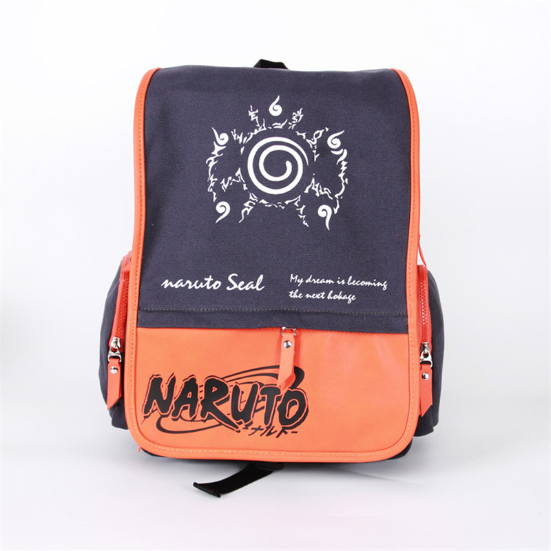 Japan Anime Naruto Shoulder Bag Cartoon Canvas+PU Backpack Schoolbag Leisure Daypack Laptop Bags for Teenagers<br><br>Aliexpress