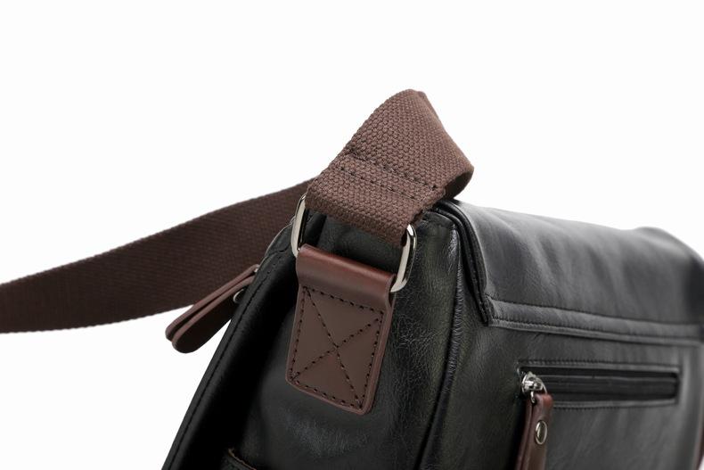 MJ Men\`s Bags Vintage PU Leather Male Messenger Bag High Quality Leather Crossbody Flap Bag Versatile Shoulder Handbag for Men (17)
