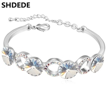 Cuff Bracelet Crystal from Swarovski Women Fashion Bracelets Charms Jewelry 15814